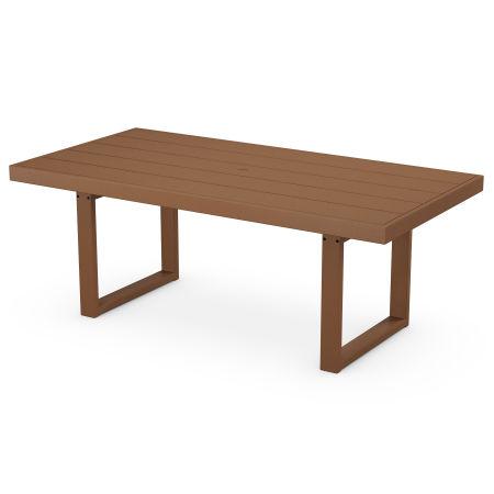 """EDGE 39"""" x 78"""" Dining Table in Teak"""