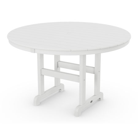 "Round 48"" Dining Table in White"