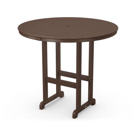 """Round 48"""" Bar Table in Mahogany"""