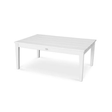 """Newport 28"""" x 42"""" Coffee Table in Vintage White"""