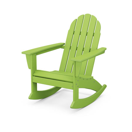 Vineyard Adirondack Rocking Chair in Lime