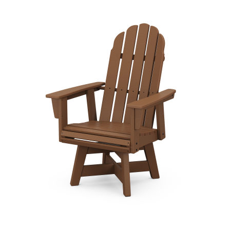Vineyard Adirondack Swivel Dining Chair in Teak