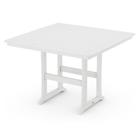 """59"""" Bar Table in White"""