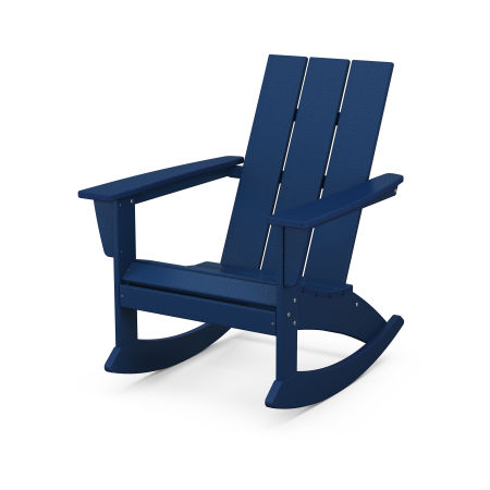 Modern Adirondack Rocking Chair in Navy