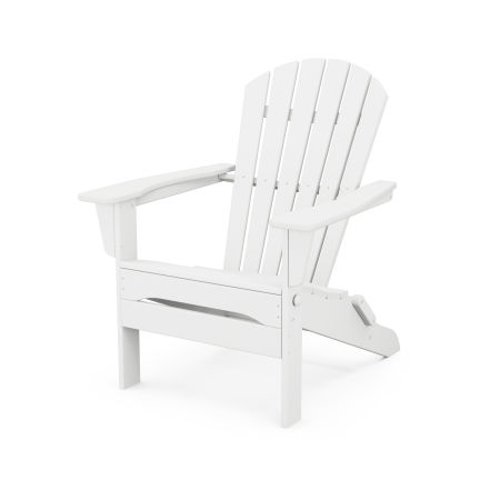 South Beach Folding Adirondack Chair in White