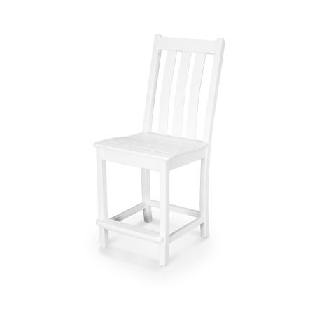 Vineyard Counter Side Chair in White