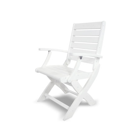 Signature Folding Chair in White
