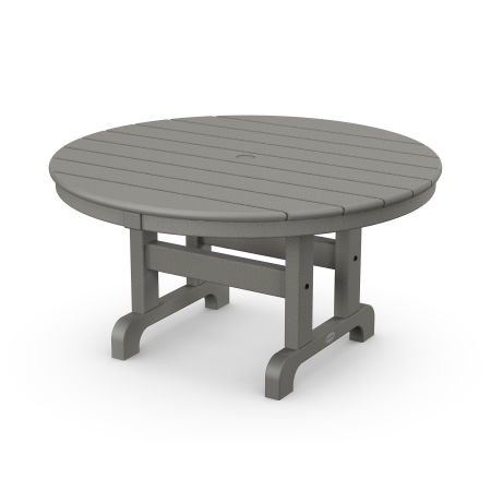 "Round 36"" Conversation Table in Slate Grey"