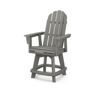 Vineyard Curveback Adirondack Swivel Counter Chair