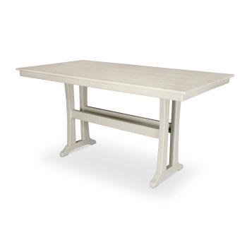 "Farmhouse Trestle 37"" x 72"" Counter Table"