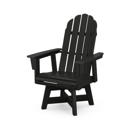 Vineyard Adirondack Swivel Dining Chair in Black