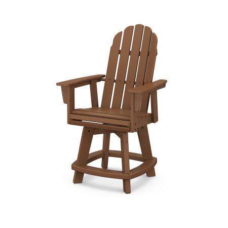 Vineyard Adirondack Swivel Counter Chair in Teak