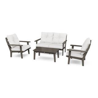 Lakeside 4-Piece Deep Seating Set in Vintage Finish