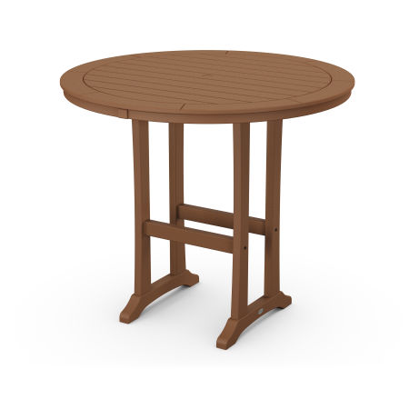 "48"" Round Bar Table in Teak"
