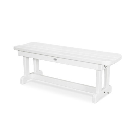 """Park 48"""" Backless Bench in White"""