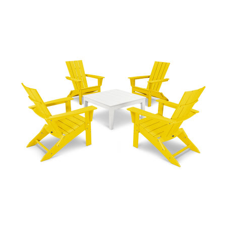 Quattro 5-Piece Conversation Set in Lemon