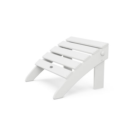 Classic Adirondack Folding Ottoman in White