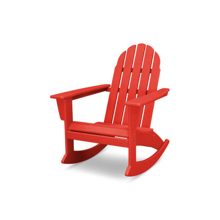 Vineyard Adirondack Rocking Chair in Vintage Sunset Red
