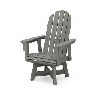 Vineyard Curveback Adirondack Swivel Dining Chair