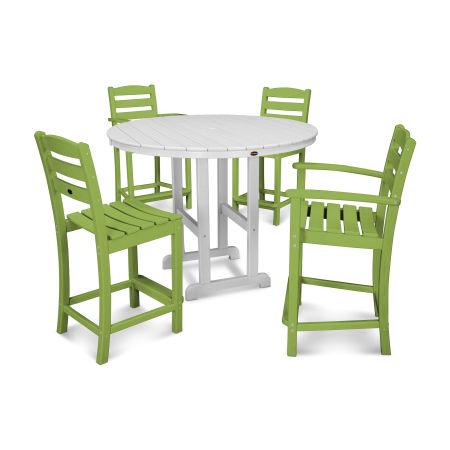 La Casa Café 5-Piece Counter Dining Set in Lime