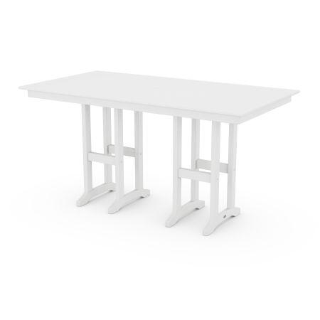 "Farmhouse 37"" x 72"" Counter Table in White"