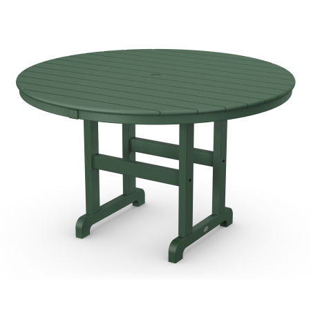 "Round 48"" Dining Table in Green"