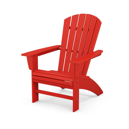 Nautical Curveback Adirondack Chair in Sunset Red