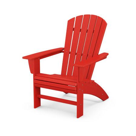 Nautical Curveback Adirondack Chair in Sunset Red
