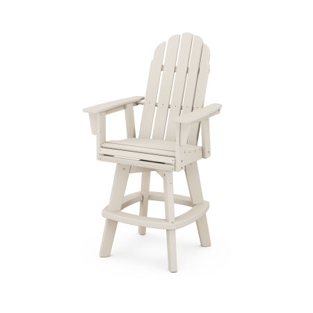 Vineyard Adirondack Swivel Bar Chair in Sand