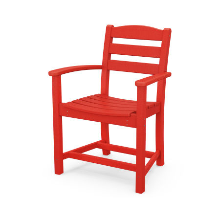 La Casa Café Dining Arm Chair in Sunset Red