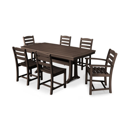 La Casa Café 7 Piece Dining Set in Mahogany