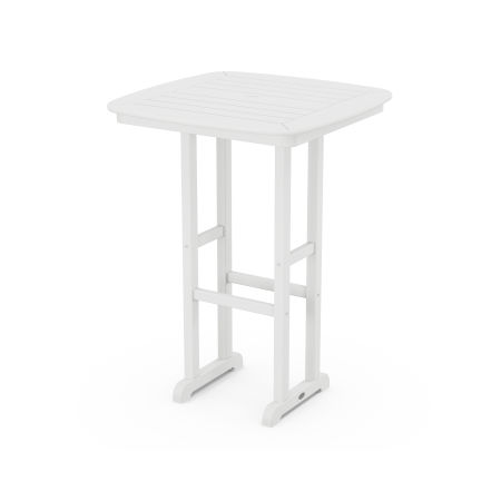 """Nautical 31"""" Bar Table in White"""