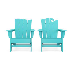 Wave 2-Piece Adirondack Set with The Wave Chair Left