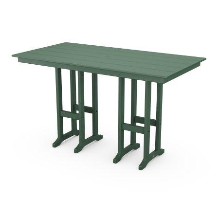 "Farmhouse 37"" x 72"" Bar Table in Green"