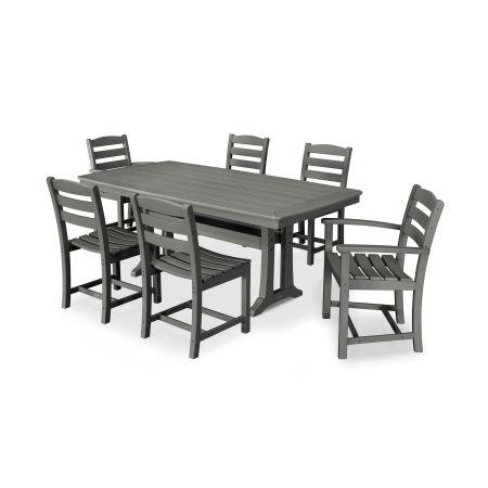 La Casa Café 7 Piece Dining Set in Slate Grey