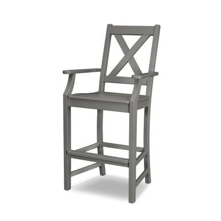 Braxton Bar Arm Chair in Slate Grey