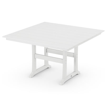 """59"""" Counter Table in White"""