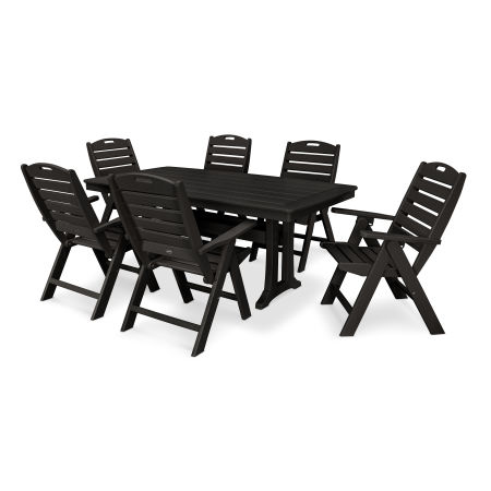 7 Piece Nautical Dining Set in Black