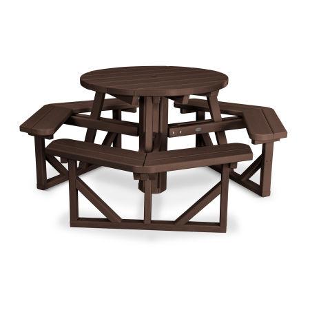 "Park 36"" Round Picnic Table in Mahogany"