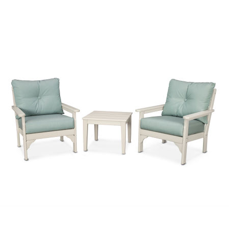 Vineyard 3-Piece Deep Seating Set in Sand / Spa