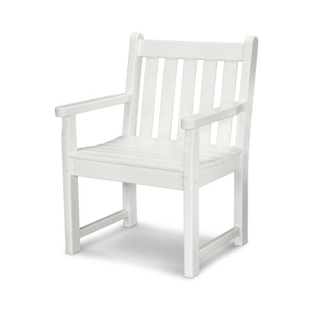 Traditional Garden Arm Chair in White