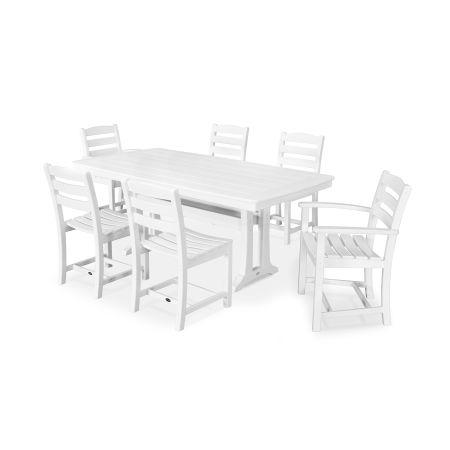 La Casa Café 7 Piece Dining Set in White