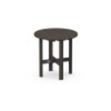 """Round 18"""" Side Table in Vintage Coffee"""