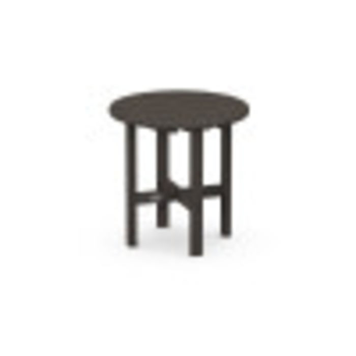"Round 18"" Side Table in Vintage Finish"