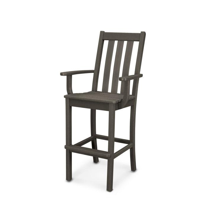 Vineyard Bar Arm Chair in Vintage Finish