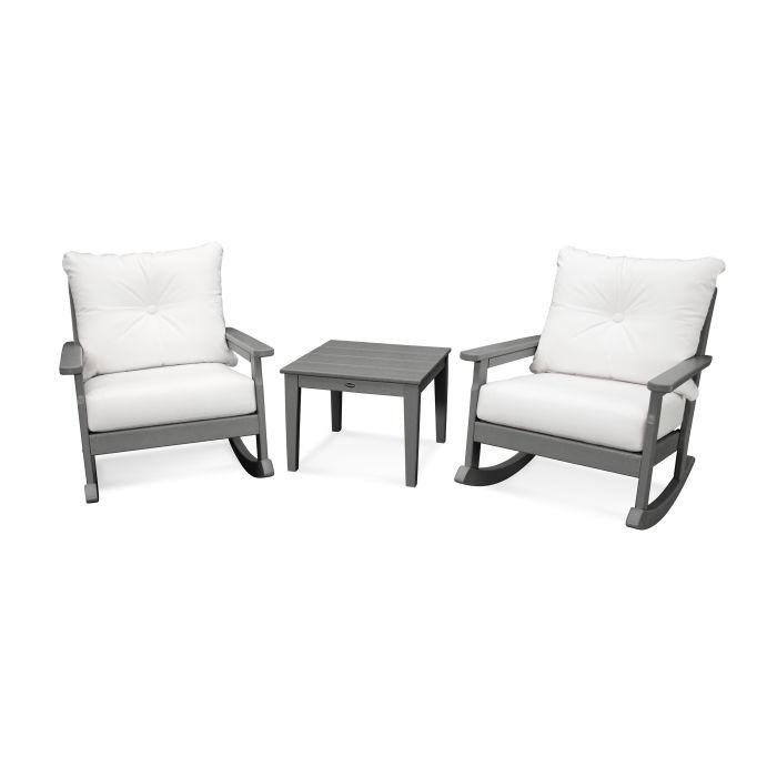 Vineyard 3-Piece Deep Seating Rocking Chair Set