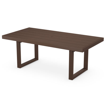 "EDGE 39"" x 78"" Dining Table in Mahogany"
