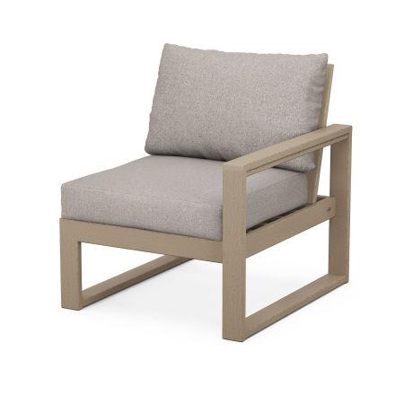 EDGE Modular Right Arm Chair in Vintage Sahara / Weathered Tweed