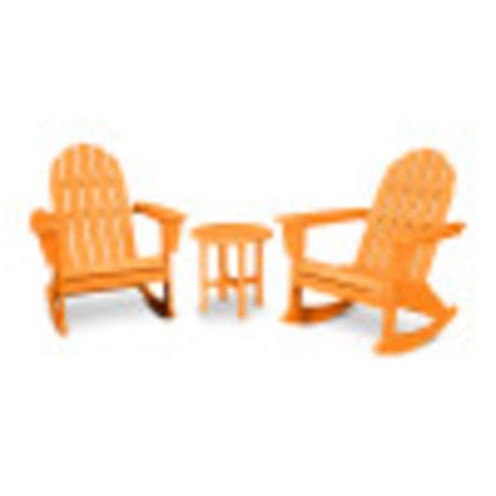 Vineyard 3-Piece Adirondack Set in Tangerine