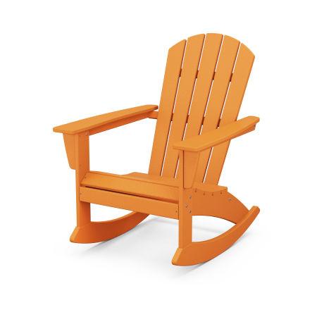 Nautical Adirondack Rocking Chair in Tangerine